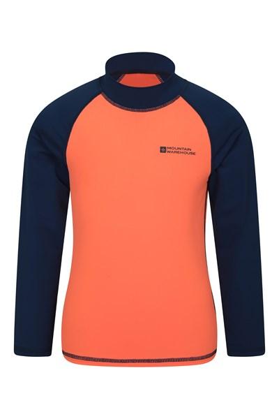Kids Long Sleeved Rash Vest - Orange