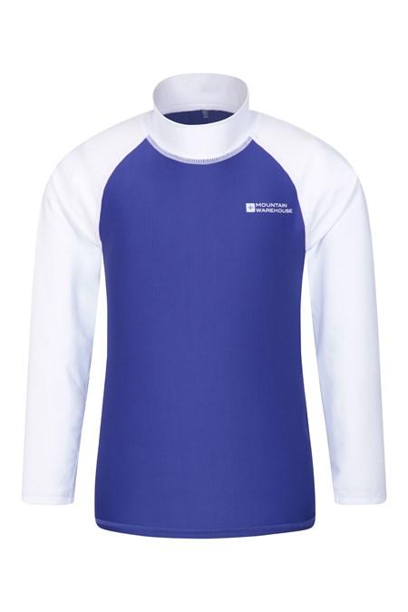 Tissu Extensible Protection UV Id/éal pour la Natation Manches Longues Mountain Warehouse T-Shirt Anti-UV Enfants Coutures Plates s/échage Rapide