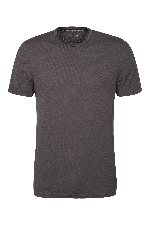 Agra Mens Melange T-Shirt - Black