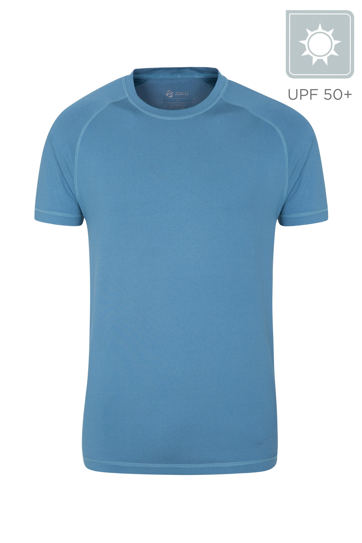 Agra Mens Melange T-Shirt - Blue