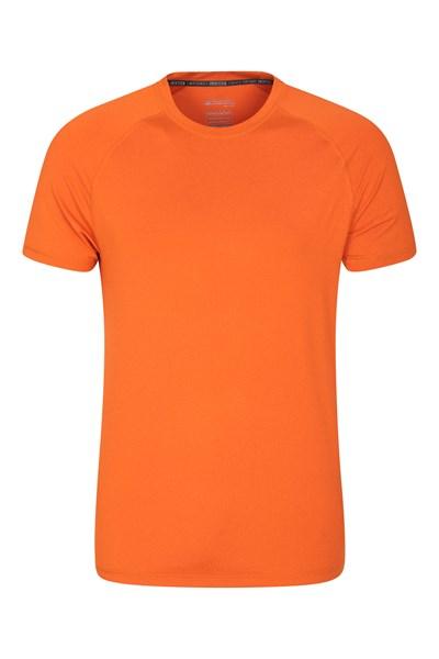 Agra Mens Melange T-Shirt - Orange