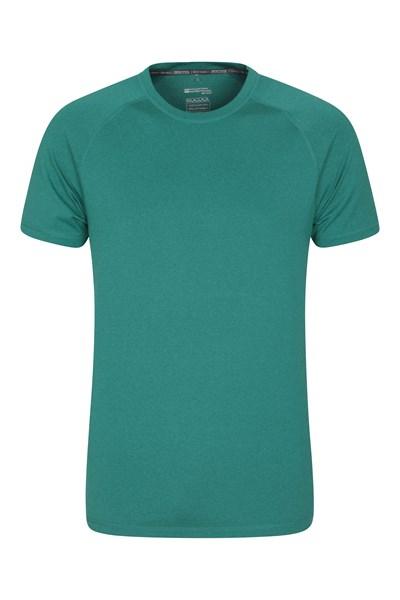 Agra Mens Melange T-Shirt - Green