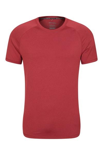Agra Mens Melange T-Shirt - Dark Red