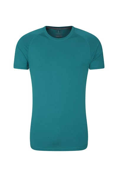 Agra Mens Melange T-Shirt - Teal