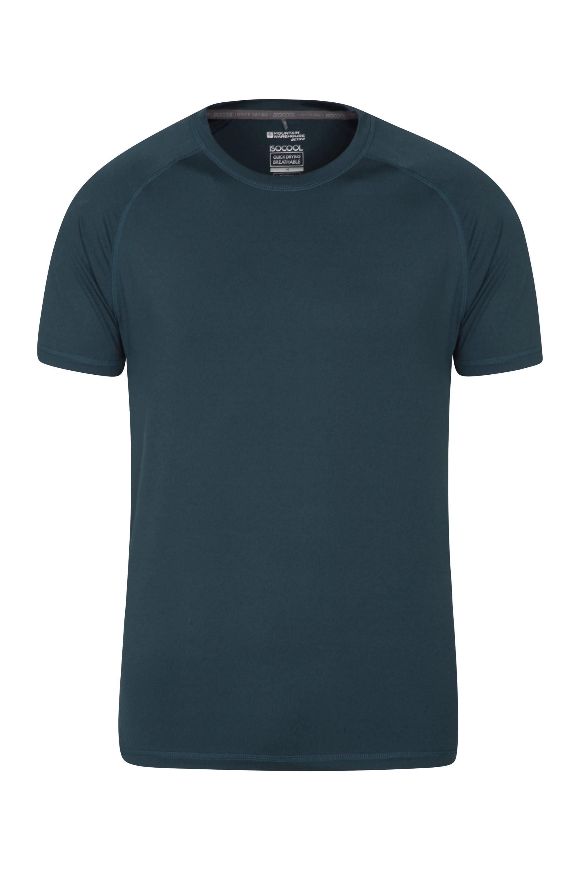 Agra Mens Melange T-Shirt - Navy