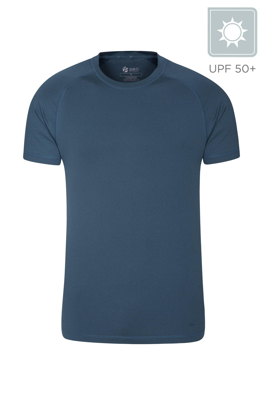Agra Mens Melange T-Shirt - Dark Grey