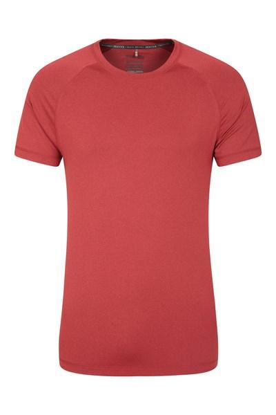 Agra Mens Melange T-Shirt - Red