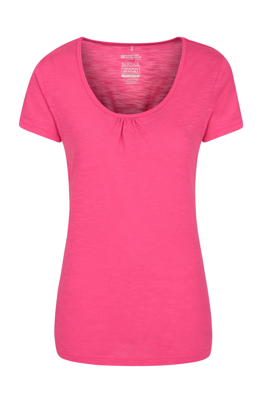 Agra Damen T-Shirt - Dunkel-Pink