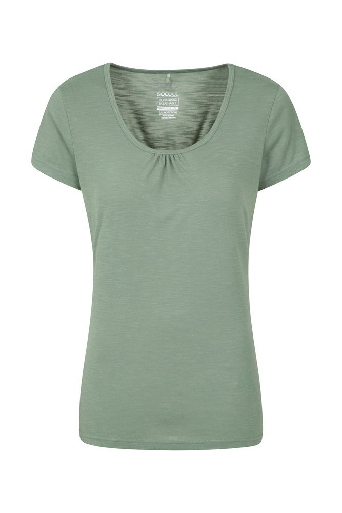 Damski T-shirt Agra  - Green