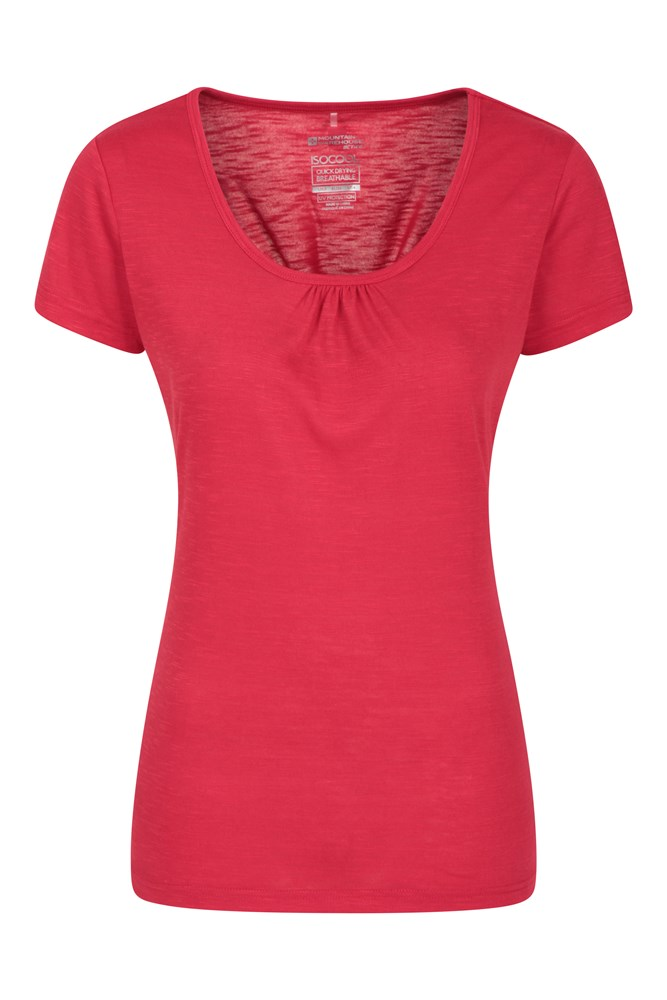 Damski T-shirt Agra  - Red