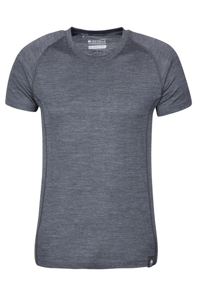 Summit Mens Merino T-Shirt - Grey