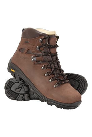 Excalibur Mens Leather Waterproof Boots