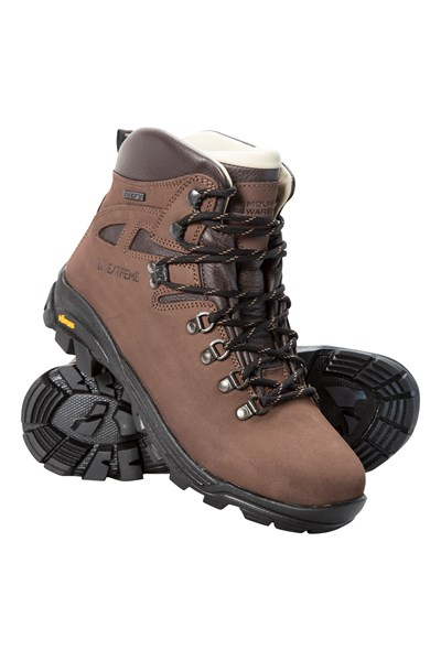 Excalibur Womens Vibram Waterproof Boots - Brown