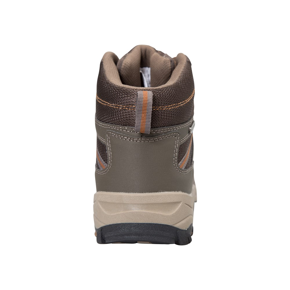 Mountain-Warehouse-Men-039-s-Waterproof-Boots-with-Leather-Suede-and-Mesh-Lining