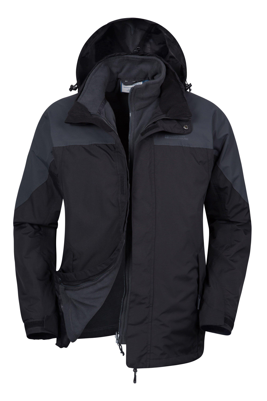 Storm Mens 3 in 1 Waterproof Jacket - Grey