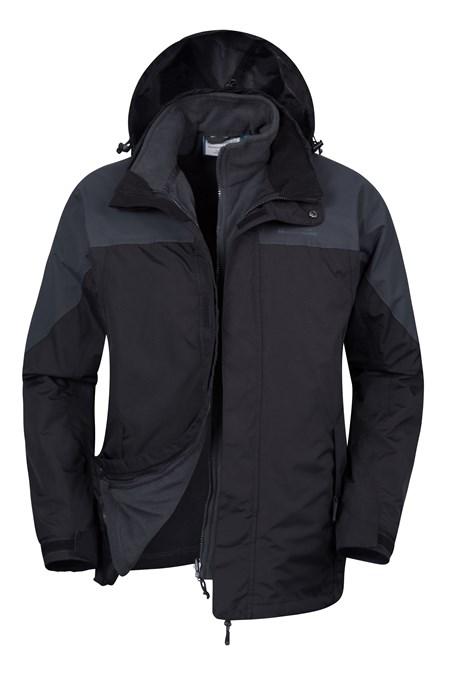 Storm Mens 3 in 1 Waterproof Jacket | Mountain Warehouse GB