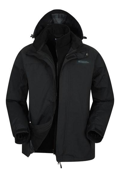 Storm Mens 3 in 1 Waterproof Jacket - Charcoal