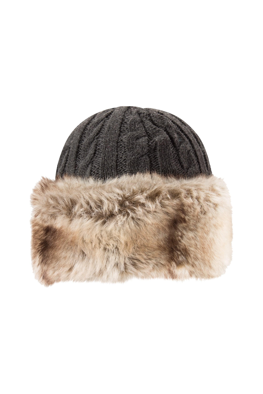 Chapeau de fourrure pour femmes - Gris