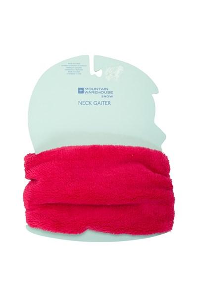 Kids Sherpa Fleece Neck Gaiter - Pink
