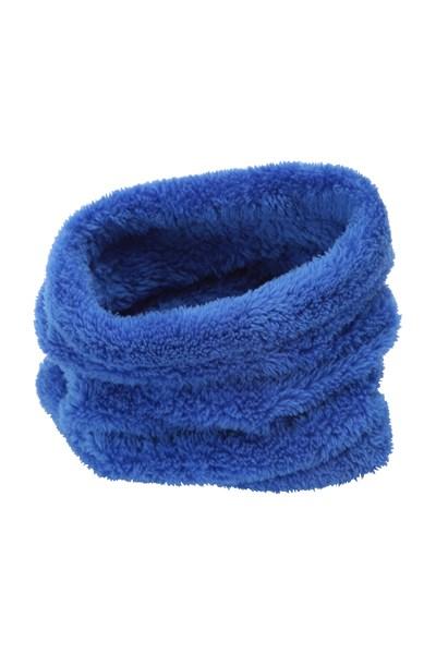 Kids Sherpa Fleece Neck Gaiter - Blue