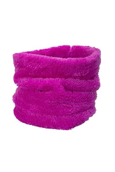 Kids Sherpa Fleece Neck Gaiter - Purple