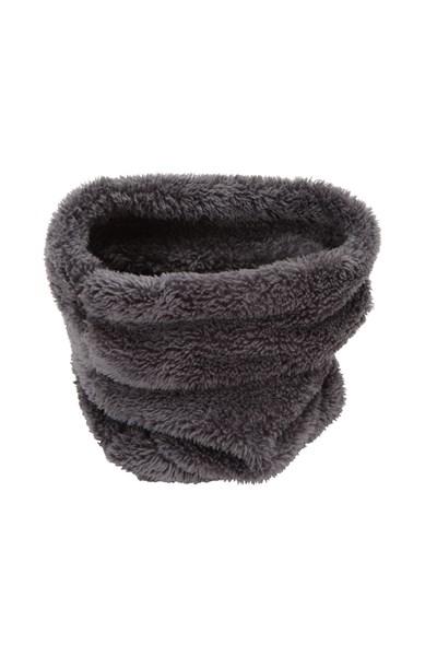 Kids Sherpa Fleece Neck Gaiter - Grey
