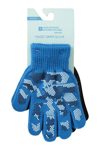 Magic Grippi Kids Gloves - 2 Pack - Black