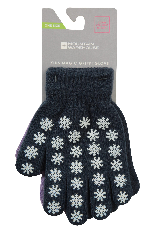 Magic Grippi Kids Gloves - 2 Pack - Navy