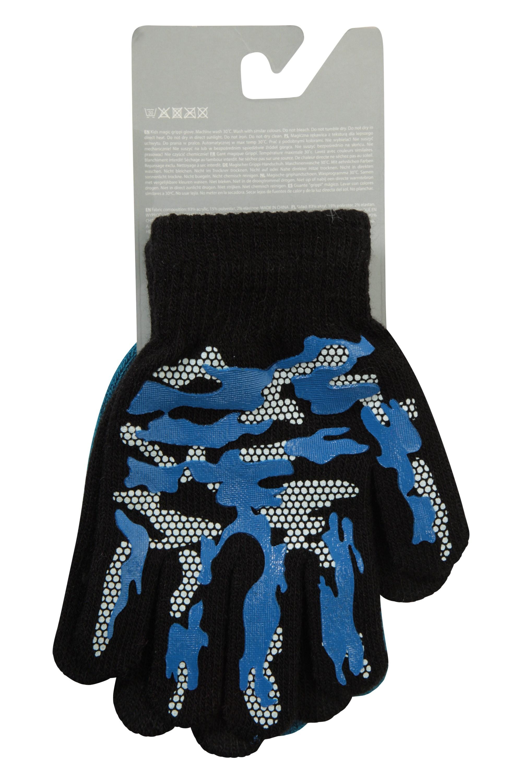 Magic Grippi Kids Gloves - 2 Pack - Dark Grey