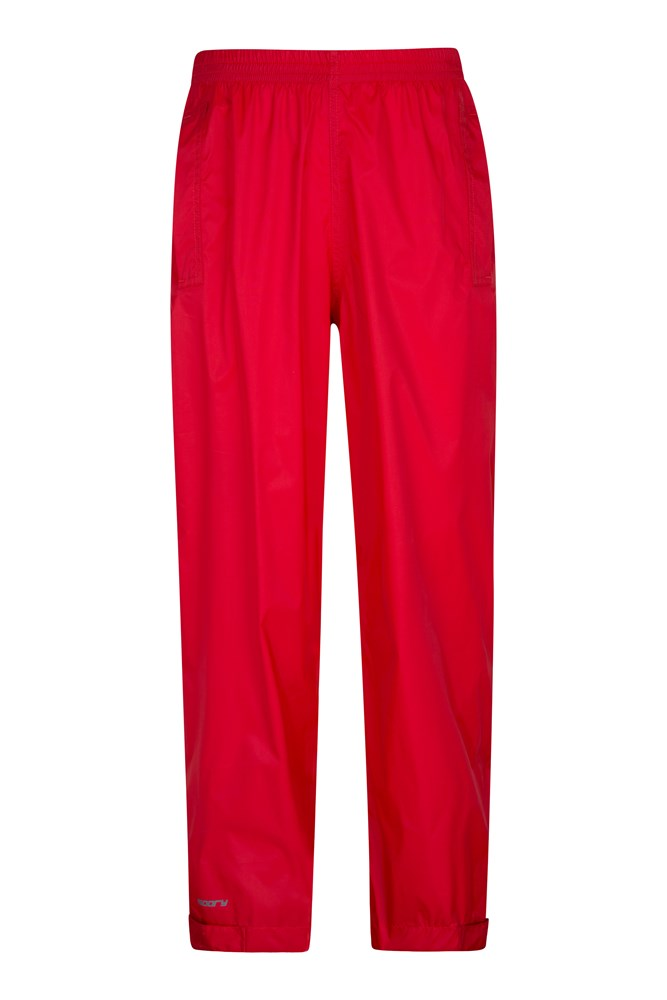 Pakka Kids Waterproof Over Trousers - Red