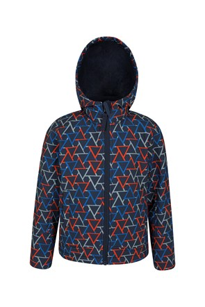 Arctic Printed Kids Sherpa Lined Softshell Jacket