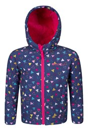 Arctic Printed Kids Softshell Jacket