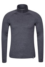 Asgard Mens Merino Zip Neck Top