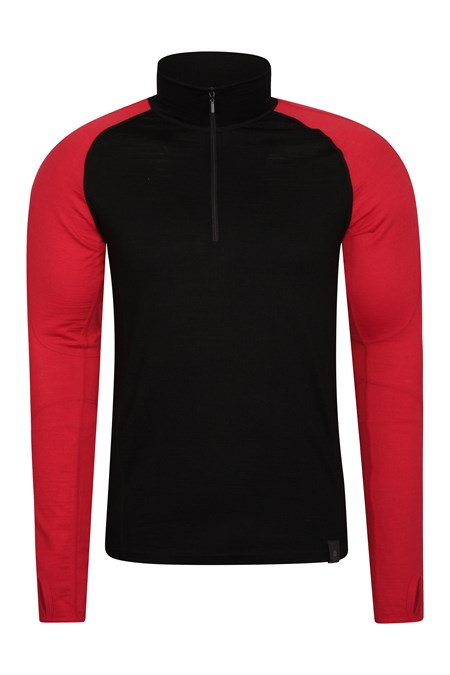 022241 ASGARD MERINO ZIP NECK TOP