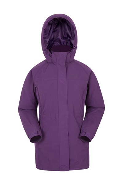 Westport Womens Winter Long Jacket - Purple