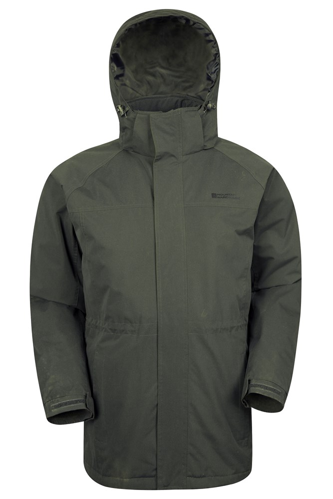Westport Mens Winter Long Jacket - Green