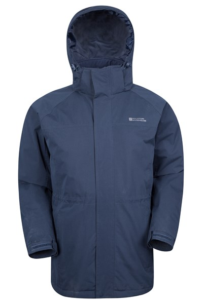 Westport Mens Winter Long Jacket - Navy