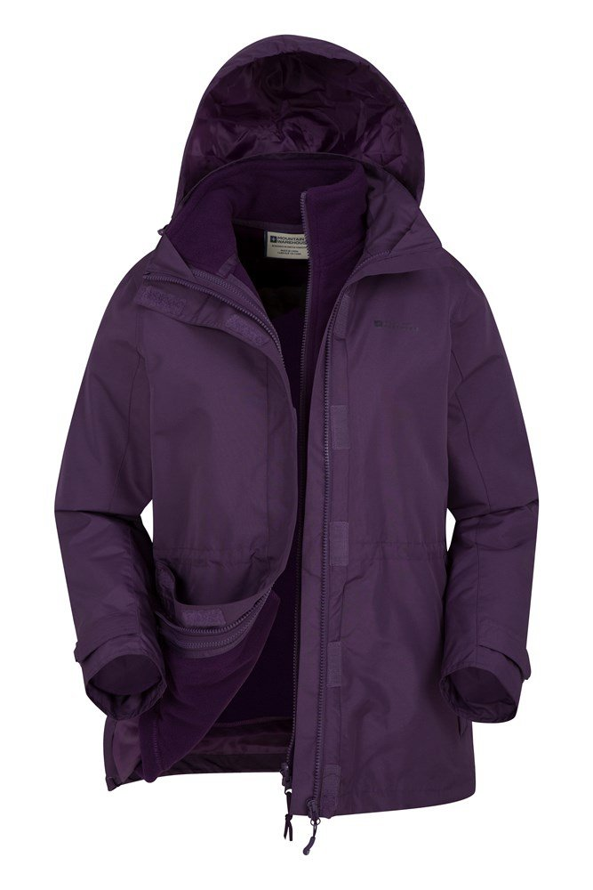 23d8b6ad Fell Womens 3 in 1 Water-Resistant Jacket | Mountain Warehouse US