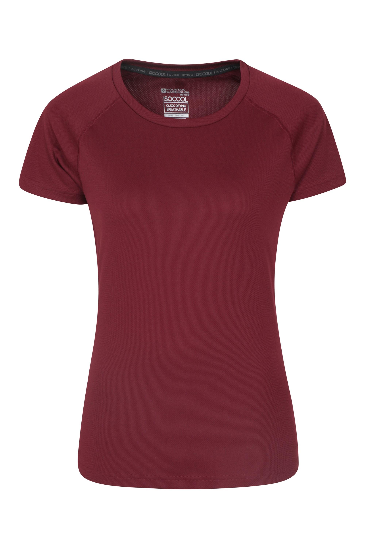 Damski T-shirt Endurance  - Burgundy