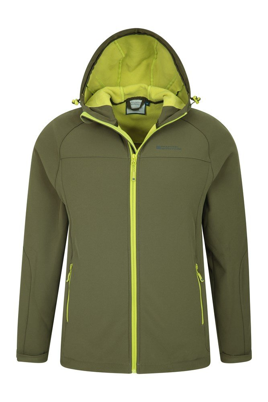 Mountain Warehouse Exodus Mens Softshell Jacket Windproof w// Adjustable Hem Hood