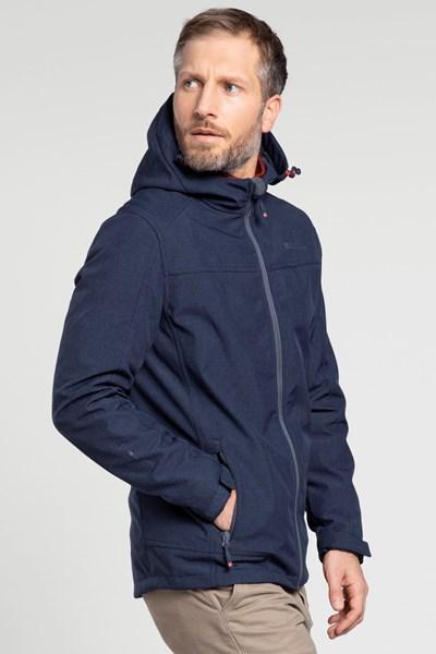 Reykjavik Textured Mens Windproof Softshell - Navy