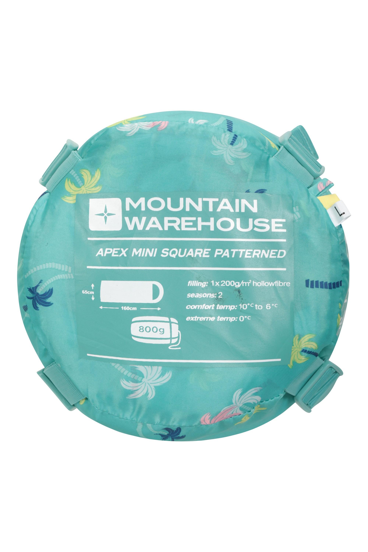 Mountain Warehouse Apex Mini Square Patterned Sleeping Bag ...