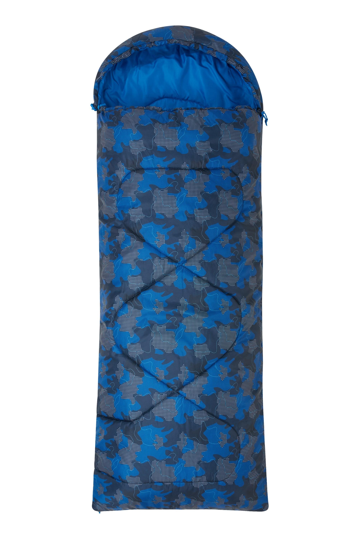 Apex Mini Square Patterned Sleeping Bag - Navy