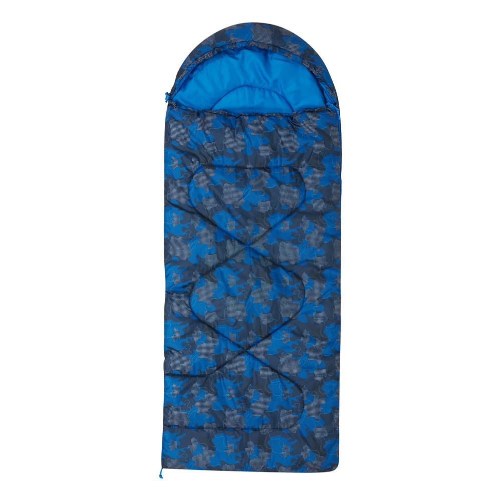 4592ef8c0cf5 Details about Mountain Warehouse Kids Sleeping Bag Apex Mini Square  Patterned
