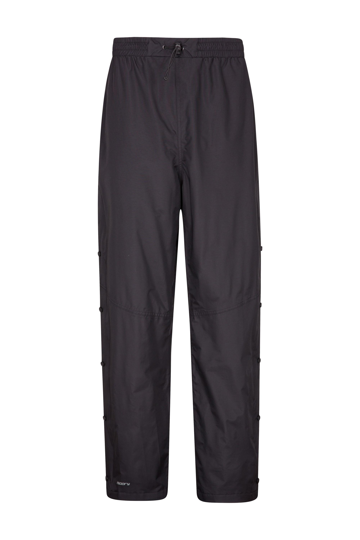 Downpour Mens Waterproof Trousers Long Length - Black