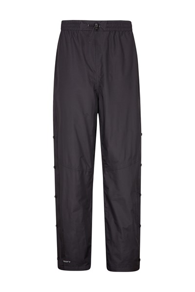 Downpour Mens Waterproof Trousers Long Length - Black