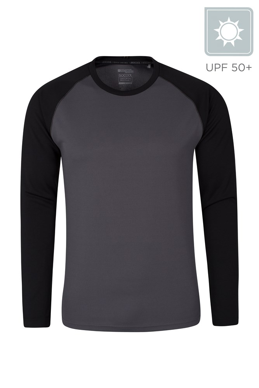 Endurance Mens Long Sleeved Top - Black