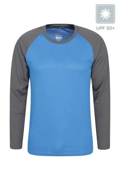 Endurance Mens Long Sleeved Top - Blue