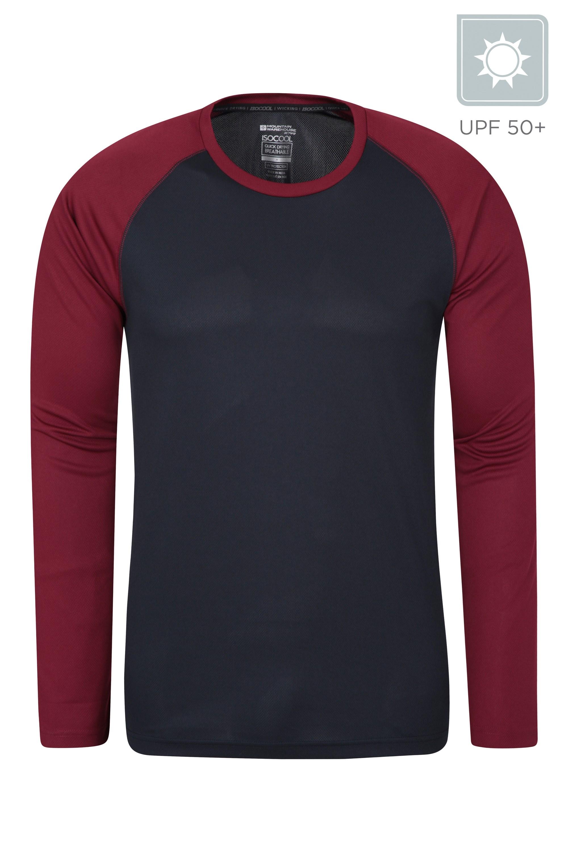 Endurance Mens Long Sleeved Top - Dark Red