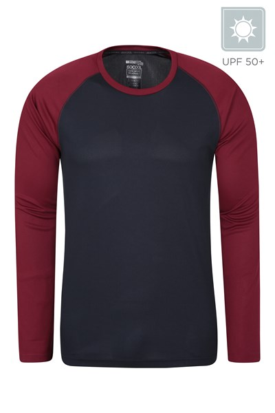 Endurance Mens Long Sleeved Top - Dark Red